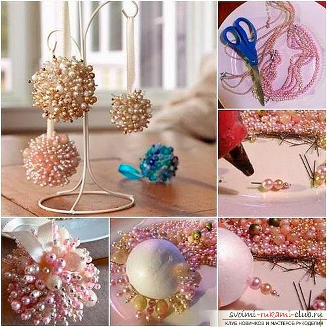 Как сделать елочные игрушки: шары, снежинки и многое другое своими руками, мастер классы по созданию новогодних елочных игрушек с пошаговыми фото и описанием. Фото №14
