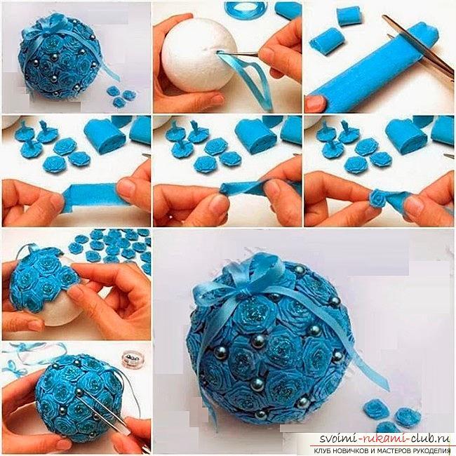 Как сделать елочные игрушки: шары, снежинки и многое другое своими руками, мастер классы по созданию новогодних елочных игрушек с пошаговыми фото и описанием. Фото №9