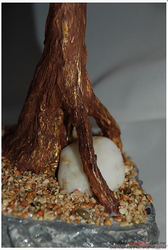 Как сделать дерево бонсай из бисера своими руками, несколько мастер классов создания бонсай в разных цветовых решениях, пошаговые фото и описание. Фото №29