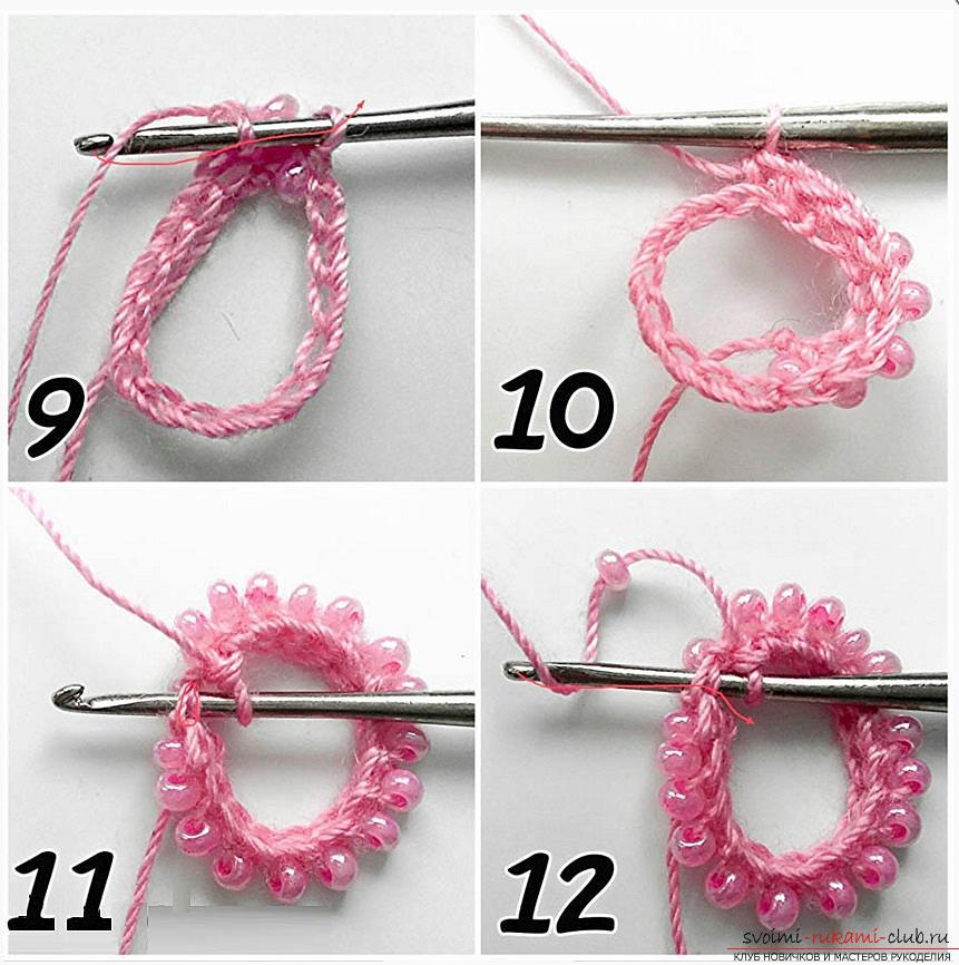 Как создать жгут из бисера, различные техники плетения и вязания жгутов, пошаговые фото и подробное описание работы. Фото №15