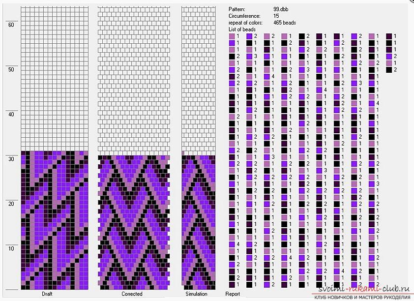 Как создать жгут из бисера, различные техники плетения и вязания жгутов, пошаговые фото и подробное описание работы. Фото №18