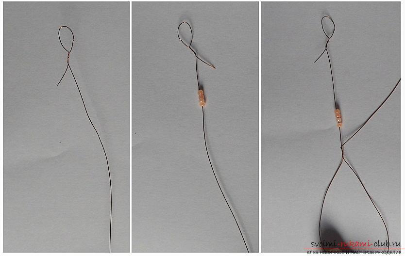 Как сплести орхидею из бисера, подробный и пошаговый мастер класс французской осевой техники плетения цветов из бисера с большим количеством фото и описанием работы. Фото №2