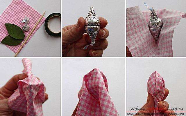 Как сделать букет из конфет своими руками, несколько подробных мастер классов в стиле свит-дизайна, пошаговые фото и подробное описание работы. Фото №2