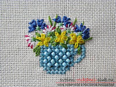 Вышиваем крестом цветы по описанию и схемам. Фото №1