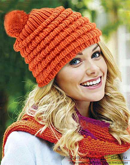 Как связать шапку, вязание шапки спицами, схемы и узоры для шапок, узоры для вязаных шапок, подробные описание, схемы, фото примеры, рекомендации.. Фото №7
