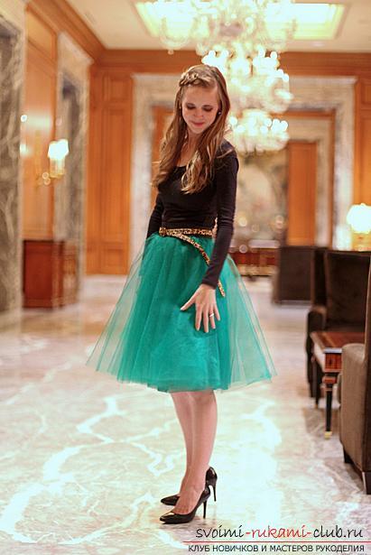 Яркая пышная юбка из фатина своими руками по выкройке и фото. Фото №2