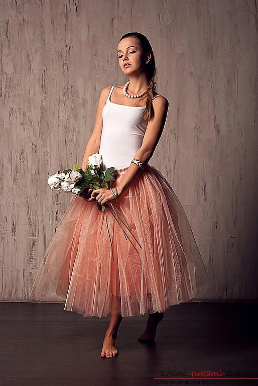 Яркая пышная юбка из фатина своими руками по выкройке и фото. Фото №3