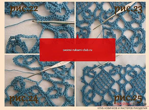 Ажурный узор для шарфа крючком - схема и описание ажурного узора своими руками. Фото №7