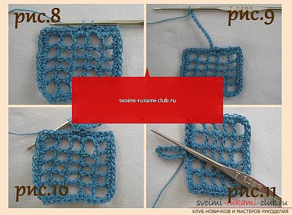 Ажурный узор для шарфа крючком - схема и описание ажурного узора своими руками. Фото №3