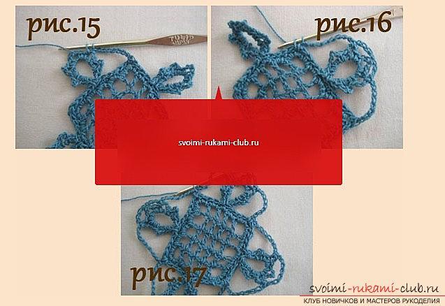 Ажурный узор для шарфа крючком - схема и описание ажурного узора своими руками. Фото №5