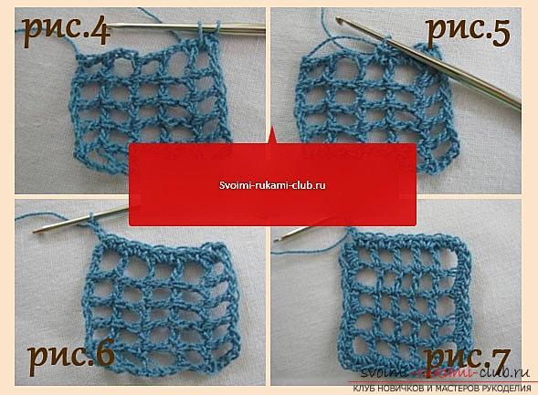 Ажурный узор для шарфа крючком