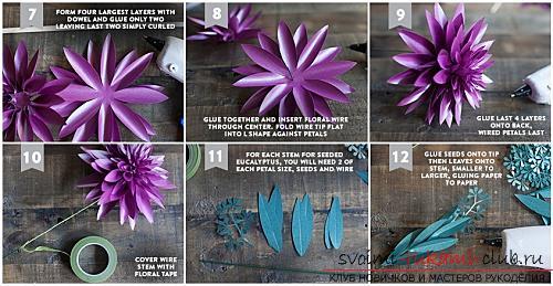 Цветы своими руками, как сделать цветок из бумаги своими руками, цветы из гофрированной бумаги, советы, рекомендации, пошаговая инструкция выполнения.. Фото №19