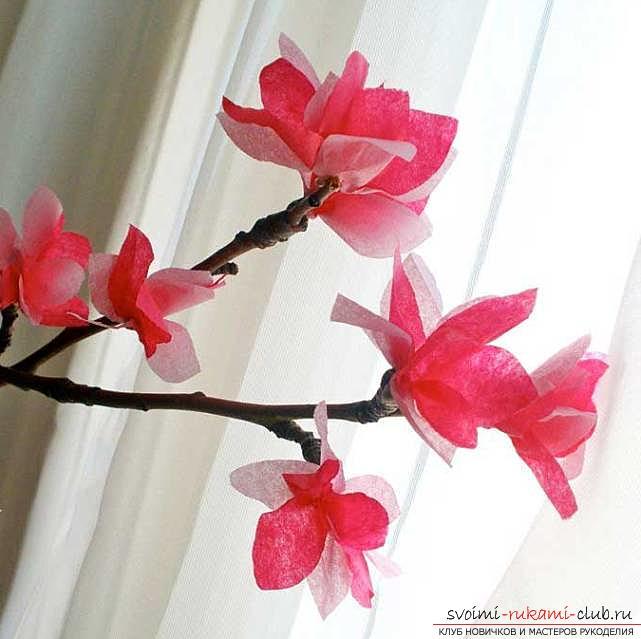 Цветы своими руками, как сделать цветок из бумаги своими руками, цветы из гофрированной бумаги, советы, рекомендации, пошаговая инструкция выполнения.. Фото №3