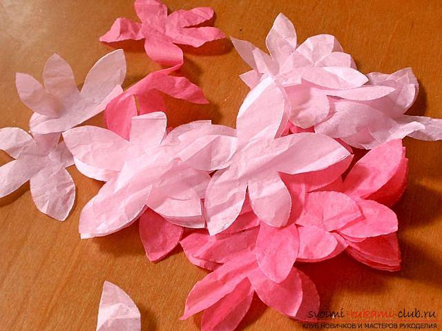 Цветы своими руками, как сделать цветок из бумаги своими руками, цветы из гофрированной бумаги, советы, рекомендации, пошаговая инструкция выполнения.. Фото №4