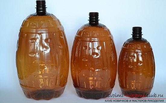 Поделки из пластиковых бутылок, поделка для сада своими руками, как сделать пальму из пластиковых бутылок своими руками, поэтапные инструкции, разъясняющие фото