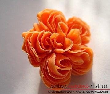 Английская роза своими руками - цветы из полимерной глины и мастер-класс. Фото №7