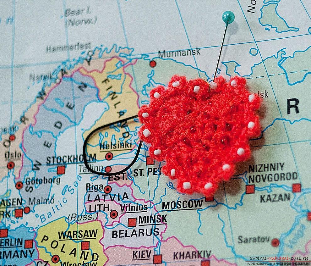 Валентинка для любимого человека - урок для начинающих, вязание крючком