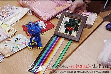 Как сделать цветочную композицию в технике квиллинг для открытки? Мастер-класс. Фото №1