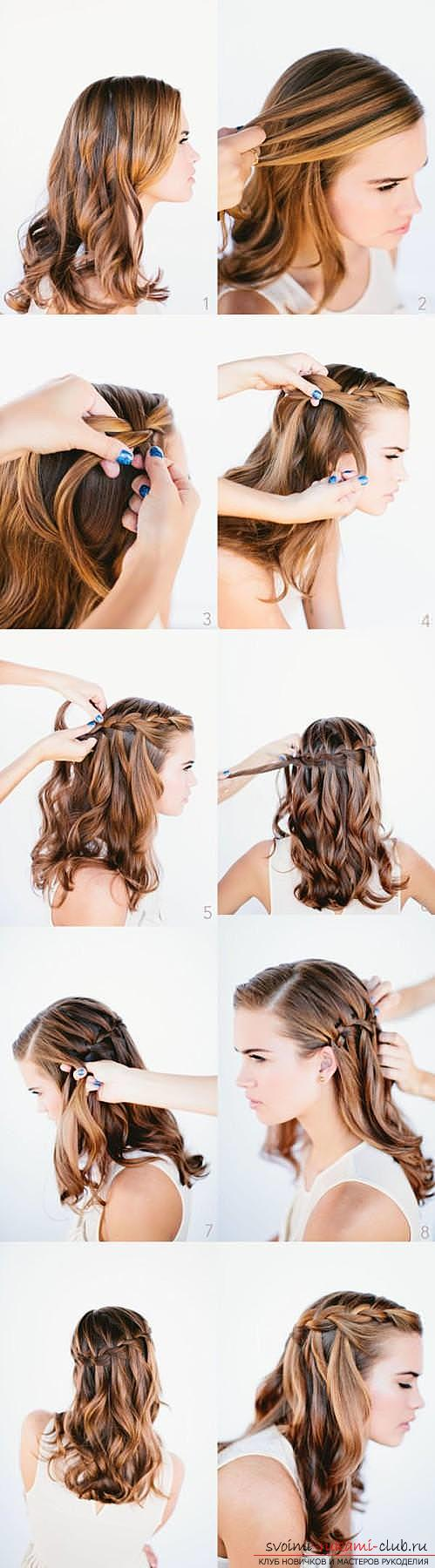 причёски из косичек на праздник фото и схема