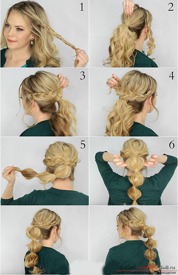прически на прямые средние волосы