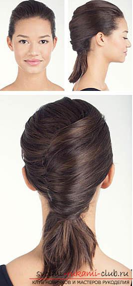 Прическа на бок своими руками для средних волос 24