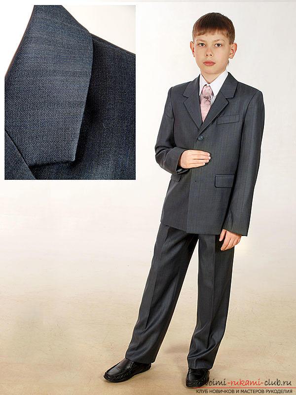 Комфортный школьный костюм для мальчика своими руками с выкройкой и описанием. Фото №1