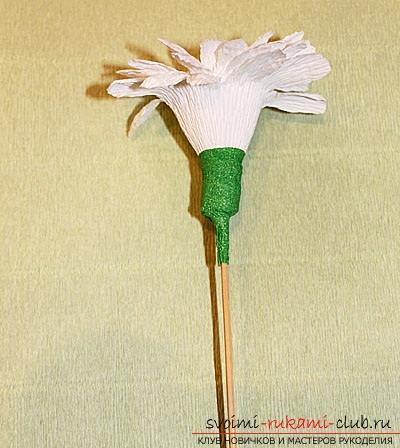 Как сделать букет полевых цветов в свит дизайне, пошаговые фото создания мака, ромашки, цветка подсолнечника, василька и крокуса. Фото №16