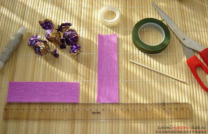 Как сделать букет полевых цветов в свит дизайне, пошаговые фото создания мака, ромашки, цветка подсолнечника, василька и крокуса. Фото №34
