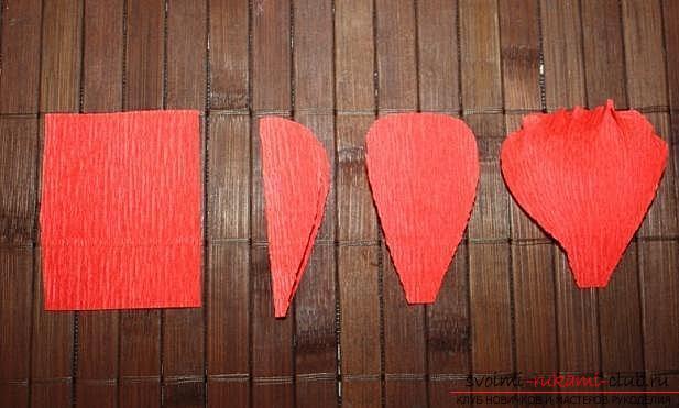 Как сделать букет полевых цветов в свит дизайне, пошаговые фото создания мака, ромашки, цветка подсолнечника, василька и крокуса. Фото №4