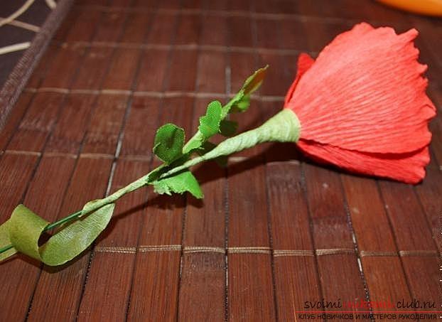 Как сделать букет полевых цветов в свит дизайне, пошаговые фото создания мака, ромашки, цветка подсолнечника, василька и крокуса. Фото №11