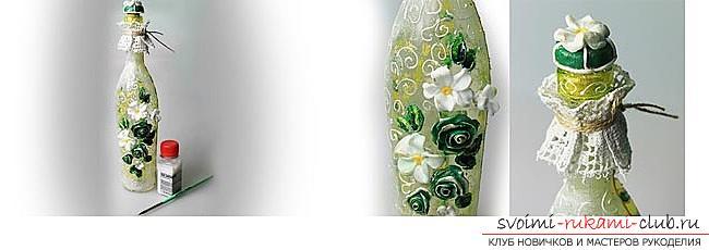Как украсить бокалы полимерной глиной и как сделать кольца для салфеток из термопластики.. Фото №11