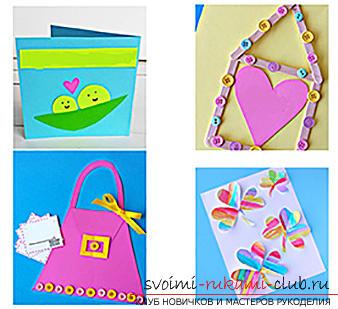 Поделки из бумаги для детей младшего возраста, бесплатные мастер-классы по созданию подарков из бумаги на 8 марта, советы и поэтапные фото.. Фото №8