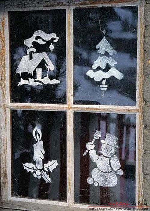 Чем можно украсить окно к новому году