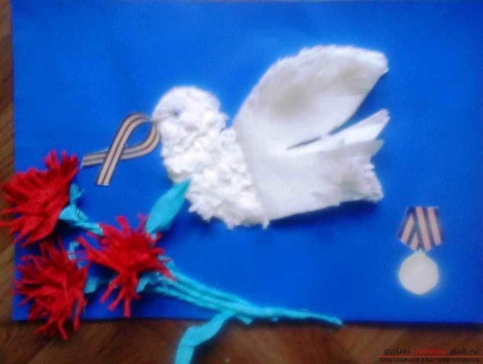Красивая открытка к 9 мая «Салют Победы» своими руками с пошаговым описанием и фото. Фото №8