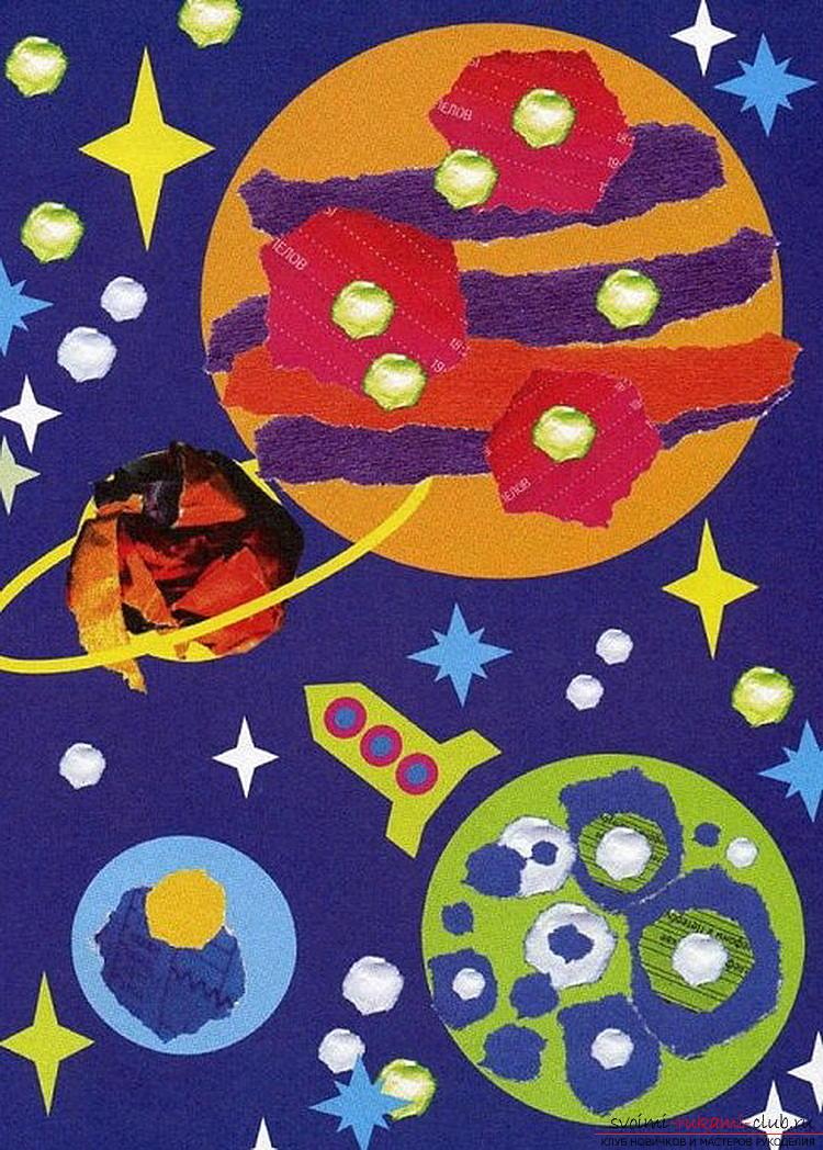 Поделки и рисунки на тему космоса 38