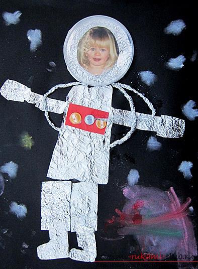 Космонавт из бумаги для детей 170