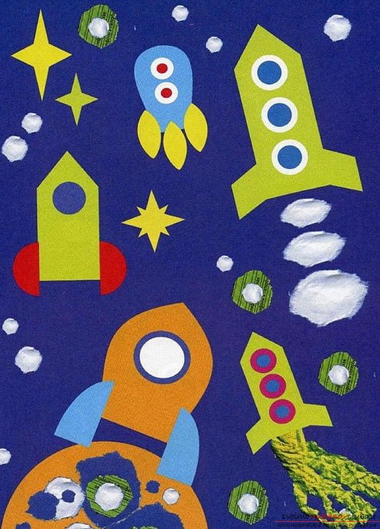 Космонавт из бумаги для детей 82