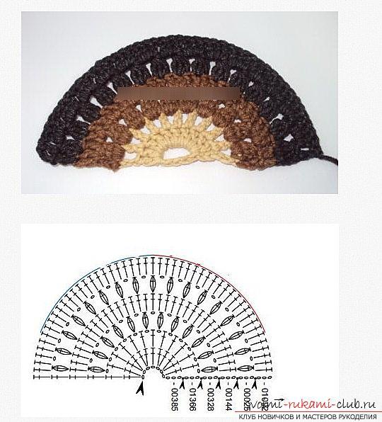 схема узора чешуйки дракона спицами