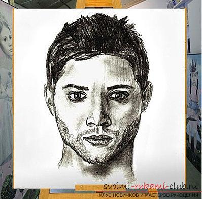Как сделать из портрет в карандаше