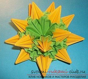 Бесплатные мастер классы по созданию модульных шаров оригами, пошаговые фото и описание.. Фото №41