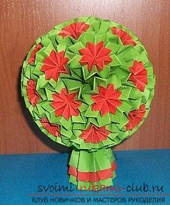 Бесплатные мастер классы по созданию модульных шаров оригами, пошаговые фото и описание.. Фото №13