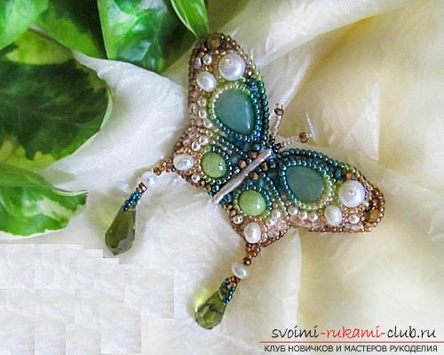 Бабочка из бисера с пошаговым фото