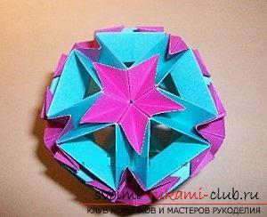 Бесплатные мастер классы по созданию модульных шаров оригами, пошаговые фото и описание.. Фото №70