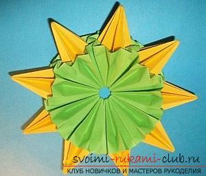 Бесплатные мастер классы по созданию модульных шаров оригами, пошаговые фото и описание.. Фото №40