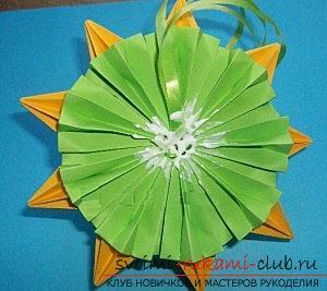 Бесплатные мастер классы по созданию модульных шаров оригами, пошаговые фото и описание.. Фото №44
