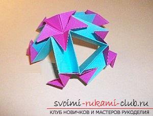 Бесплатные мастер классы по созданию модульных шаров оригами, пошаговые фото и описание.. Фото №63