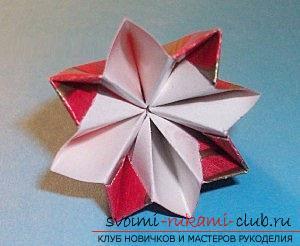 Бесплатные мастер классы по созданию модульных шаров оригами, пошаговые фото и описание.. Фото №34