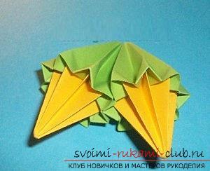 Бесплатные мастер классы по созданию модульных шаров оригами, пошаговые фото и описание.. Фото №37