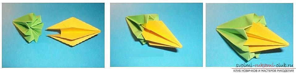 Бесплатные мастер классы по созданию модульных шаров оригами, пошаговые фото и описание.. Фото №36