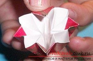 Бесплатные мастер классы по созданию модульных шаров оригами, пошаговые фото и описание.. Фото №33